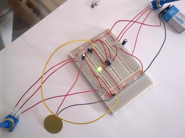 Piezo Pulse Stretcher Breadboard Prototype